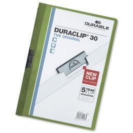 Durable Duraclip Fldr 3mm Green Pk25 /05