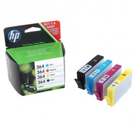 Hewlett Packard [HP] No. 364 Inkjet Cartridge Black/Cyan/Magenta/Yellow Ref SD534EE [Pack 4]