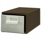 &Bisley 8x5 Card Index Cabinet Coff/Crm
