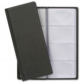 Classic Business Card Holder PVC 64 Pockets for 128 Cards 280x110mm Black Ref CBC4PZ