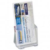 Deflecto Rigid Lit Hldr 1/3-A4 Clr 77501