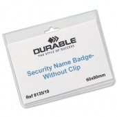 Durable Security NameBadge No clip Pk20