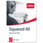 &Nobo Flipcht Pads A1 25mm Sqs 346 31166