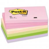 PostIt Warm Pastel 3x5 655F Pk12
