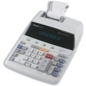 Sharp Calculator Printing Mains-power 12-Digit 3.0 Lines/sec 221x305x72mm Ref EL1607P