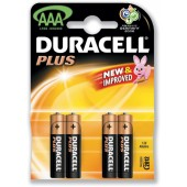 Duracell Plus Power Battery Size AAA Pk4