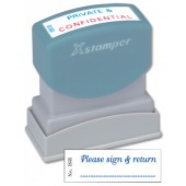 &Xstamper Word Stamp (Sign/Return) X1848