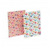 Silvine Fashion Notebook Perfect Bound Ruled 140pp 75gsm A4+ Assorted Hearts Ref PERA4HT [Pack 6]