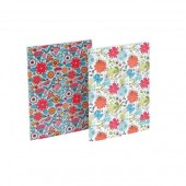 Silvine Fashion Notebook Perfect Bound Ruled 140pp 75gsm A4+ Assorted Flowers Ref PERA4FL [Pack 6]