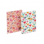 Silvine Fashion Notebook Perfect Bound Ruled 140pp 75gsm A5+ Assorted Hearts Ref PERA5HT [Pack 6]
