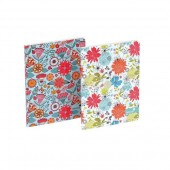 Silvine Fashion Notebook Perfect Bound Ruled 140pp 75gsm A5+ Assorted Flowers Ref PERA5FL [Pack 6]