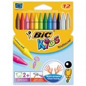 Bic Kids Plastidecor Crayons Bx12 829770