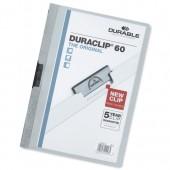 &Durable Duraclip Fldr 6mm L/Blue Pk25