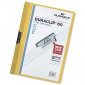 &Durable Duraclip Fldr 6mm Yellow Pk25