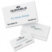 Durable Pin Name Badge 8006 Pk100