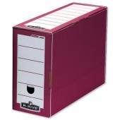 R-Kive B/Box FlipTop File Red/White 58