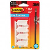 3M Command Adh Cord Clips Med 17301 Pk4