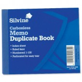 Silvine Cbnl Dup Memo Bk 1-100 4X5 703-P