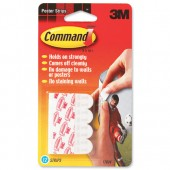 3M Command Adh Poster 12 Strips 17024