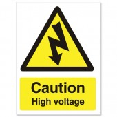 &Caution High Voltage WO137PVC
