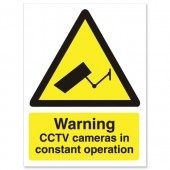 Caution Cctv Camera WO143PVC