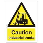 &Caution Industrial Trucks WO135PVC