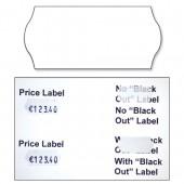 &Avery Blackout Lbls White 1line Pk1500