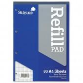 Silvine A4 Rfl Graph Pad 5mm 160Pg A4Rpx