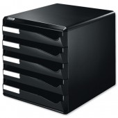 Leitz Post Set 5 Drawer Blk 529300995