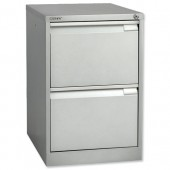 3*Bisley Filing Cabinet 2Dwr Silver Bs2E