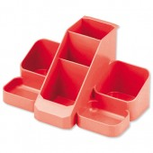 Avery Basics Desk Tidy Red 1137RED