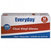 Everyday Clr Vinyl Gloves Med Bx100 5049