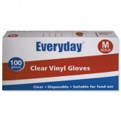 Everyday Clr Vinyl Gloves Med Bx100 5049