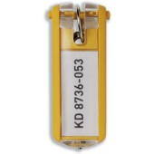 Durable Key Clip Yellow Pk6 1957/04