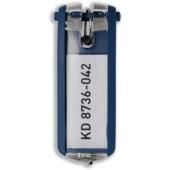 Durable Key Clip D/Blue Pk6 1957/07