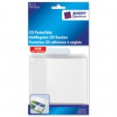 &Avery CD Pocket Tab Clear Pk5 8362