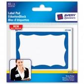 Avery Name Badge Pad 85x59 Blu Brd 45144