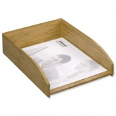Rexel Bamboo Letter Tray 2102370