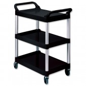 Rubbermaid Utility Cart Blk 3424-88-BLA