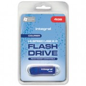 Integral Courier Flash Drive with LED Light USB 2.0 Read 12MB/s Write 3MB/s 4GB