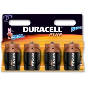 Duracell Plus Power Battery Size D Pk4