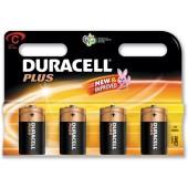 Duracell Plus PowerBattery Size C Pk4