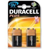Duracell Plus Power Battery Size 9V Pk2