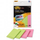 Post-It SStickyLabel Pad 47.6x73 Pnk&Grn