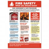 SS FireSafety Laminated Poster HS105