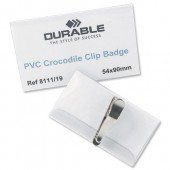 Durable Croc Clip Badge 55X90 8111 Pk25