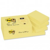 3M Post-It Notes Recycled Yellow 653-Rp