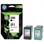HP 350&351 InkjetCart Blk&ColPk2 SD412EE