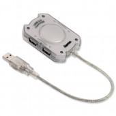 Hama USB 2.0 Hub4Prt no Pwer Silv 78499