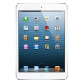 Apple iPad Mini with WiFi + Cellular 64GB - White & Silver